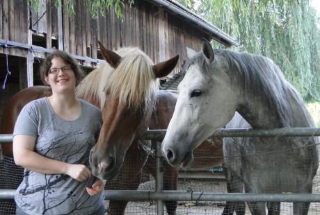 Tanja Bohrer und Pferde